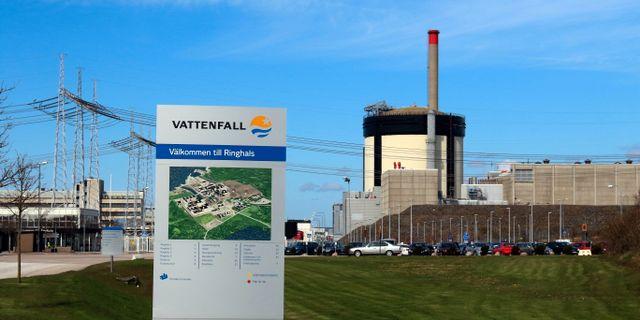Arkivbild: Reaktor 1 och 2 på Ringhals kärnkraftverk.  ADAM IHSE / TT / TT NYHETSBYRÅN