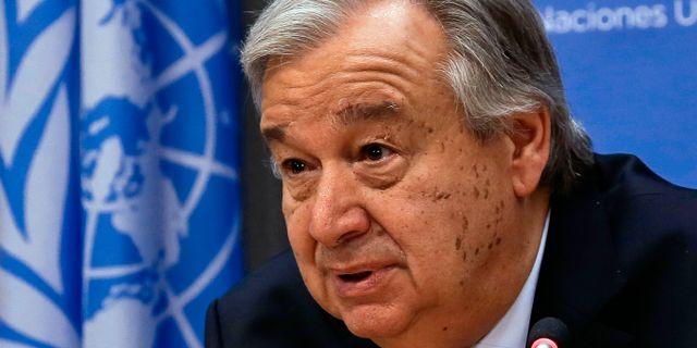 FN:s generalsekreterare Antonio Guterres Bebeto Matthews / TT NYHETSBYRÅN