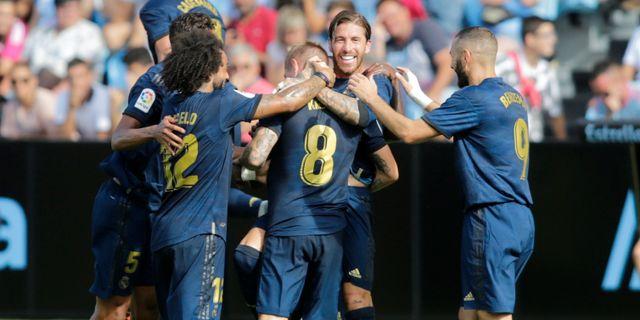 Real Madrid firar segern. MIGUEL VIDAL / BILDBYRÅN