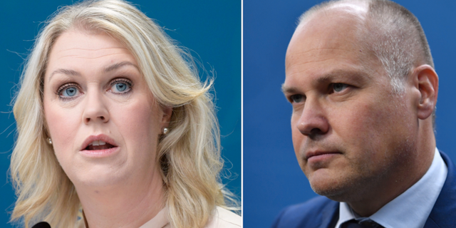 Socialminister Lena Hallengren (S) och justitieminister Morgan Johansson (S) Janerik Henriksson / Jessica Gow / TT