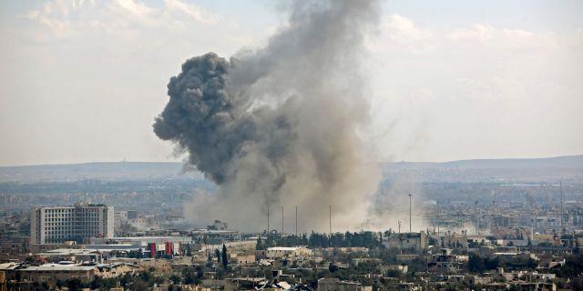 Arkivbild. Harasta den 28 februari. STRINGER / AFP