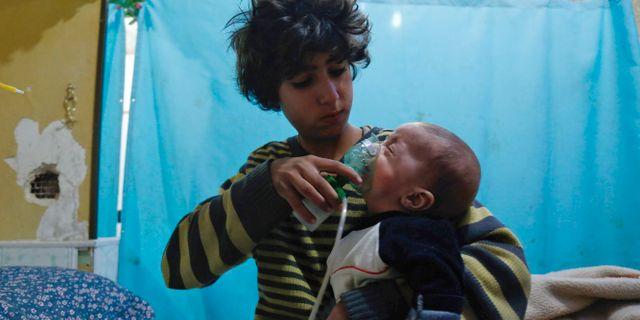 Flera barn skadades i attackerna HASAN MOHAMED / AFP