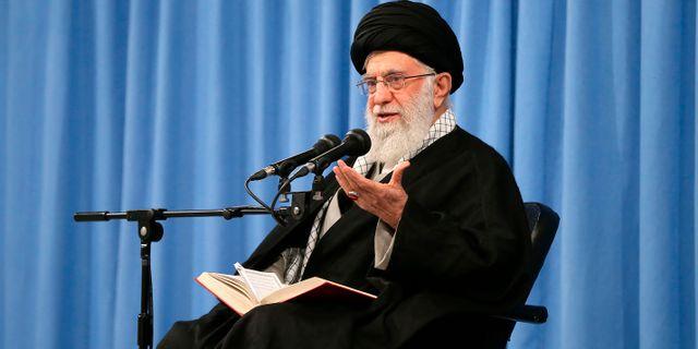 Irans högste ledare ayatolla Ali Khamenei  enei.ir / TT NYHETSBYRÅN