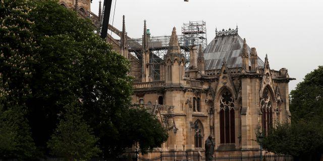Notre Dame idag. Thibault Camus / TT NYHETSBYRÅN
