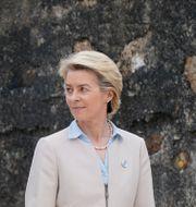 Ursula von der Leyen med Joe Biden, Emmanuel Macron och Mario Draghi.  Patrick Semansky / TT NYHETSBYRÅN
