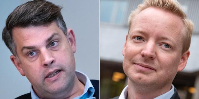 Andreas Schönström (S) och Torbjörn Tegnhammar (M)  TT
