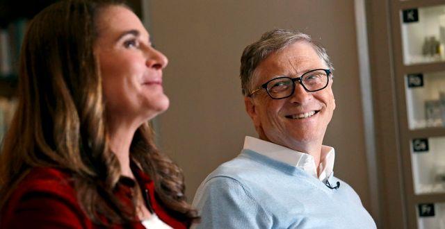 Arkivbild: Melinda och Bill Gates.  Elaine Thompson / TT NYHETSBYRÅN/ NTB Scanpix