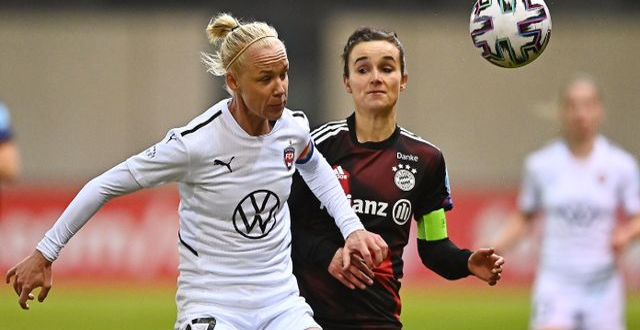 Rosengårds Caroline Seger och Bayern Münchens Lina Magull.  LENNARTPREISS / BILDBYRÅN