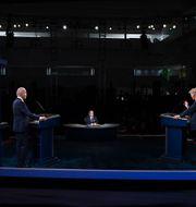 Bild från förra debatten. Olivier Douliery / TT NYHETSBYRÅN
