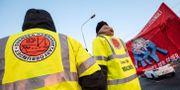 Bild från tidigare strejk i hamnen i Malmö.  Johan Nilsson/TT / TT NYHETSBYRÅN