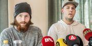 Robin Dahlén och Christian Karlsson som för 19 år sedan pekades ut som skyldiga till mordet på Kevin. Lars Pehrson/SvD/TT / TT NYHETSBYRÅN