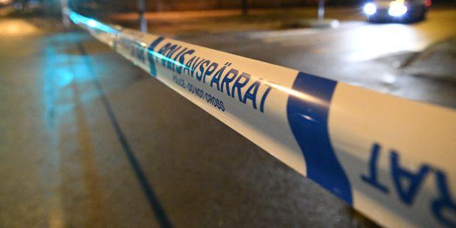 Polisavspärrning vid rättscentrum i Malmö. Johan Nilsson/TT / TT NYHETSBYRÅN