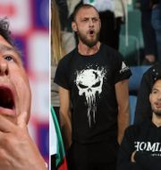 Krasimir Balakov/bulgariska fans under matchen mot England. Bildbyrån