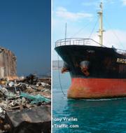 Hamnen i Beirut/Fartyget Rhosus/Arkivbild TT
