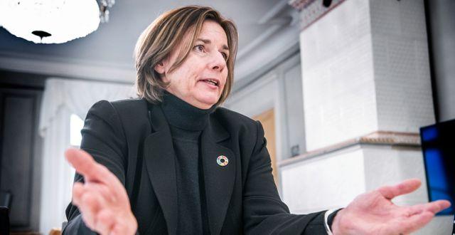 Miljöminister Isabella Lövin. Tomas Oneborg/SvD/TT / TT NYHETSBYRÅN