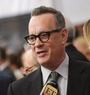 Tom Hanks och hustrun Rita Wilson. Brent N. Clarke / TT NYHETSBYRÅN