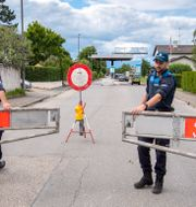 Gränsen mellan Schweiz och Frankrike. MARTIAL TREZZINI / TT NYHETSBYRÅN