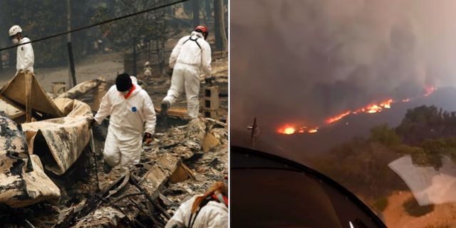 Många har dödats och flera saknas efter skogsbränderna i Kalifornien. AP/TT