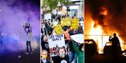Bilder från protester i Dallas, Los Angeles och Minneapolis. TT