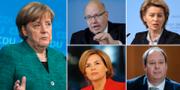Arkivbilder. Angela Merkel, Peter Altmaier, Ursula von der Leyen, Helge Braun och Julia Klöckner. TT