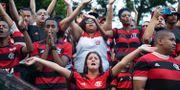 Fans till fotbollsklubbens Flamengos sörjer. FERNANDO SOUZA / AFP