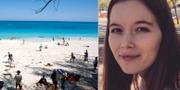 Jordan Lindsey / strand på Bahamas.  TT / Privat