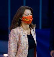 Ann Linde på väg in i ett EU-möte. Arkivbild.  Jean-Christophe Verhaegen / TT NYHETSBYRÅN