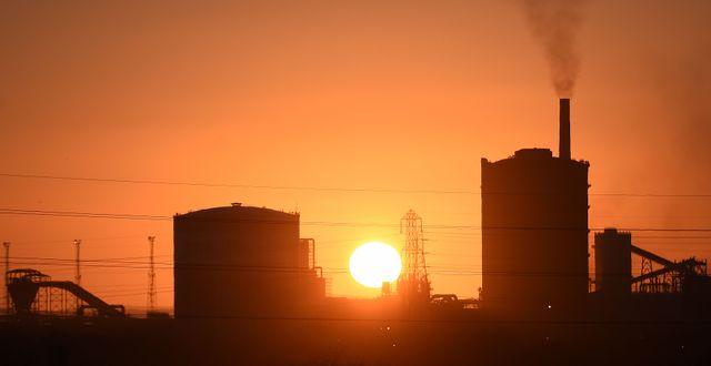 Arkiv, Tata Steels fabrik i Port Talbot, Wales. PAUL ELLIS / AFP