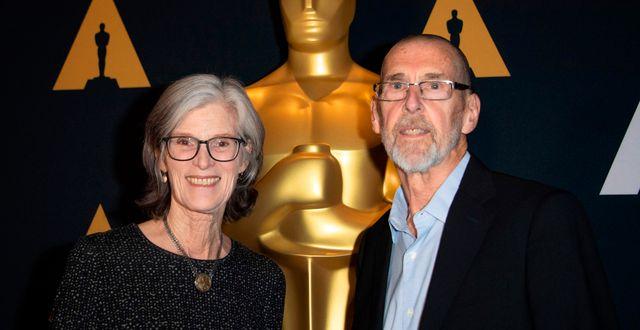 Kristine Samuelson och John Haptas. VALERIE MACON / AFP