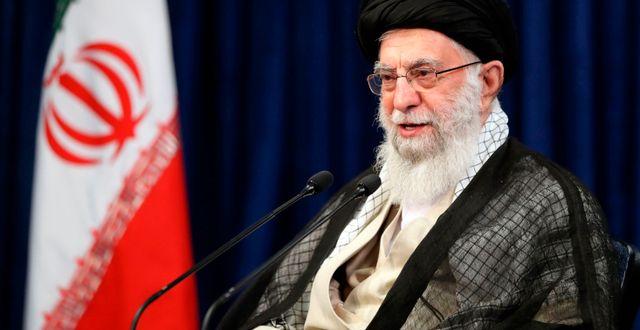 Irans högste ledare ayatolla Ali Khamenei. TT NYHETSBYRÅN