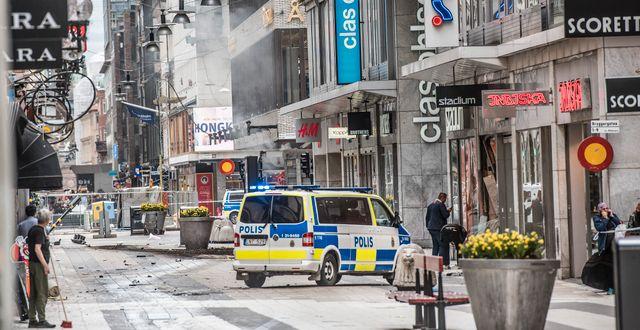 En kapad lastbil mejade på fredagen ner en folkmassa. Tomas Oneborg/SvD/TT / TT NYHETSBYRÅN