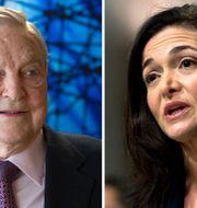 George Soros och Sheryl Sandberg.