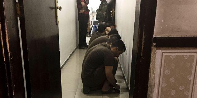 Misstänkta i väntan på rättegång i Bagdad. Maya Alleruzzo / TT NYHETSBYRÅN