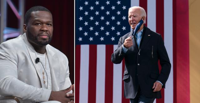 50 Cent och Joe Biden.  TT
