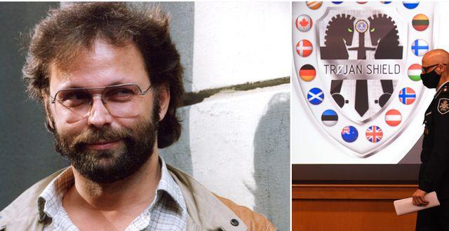 Clark Olofsson 1991, presentation av Trojan Shield TT