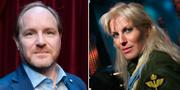 Morgan Alling och Josefin Nilsson. Arkivbilder. TT