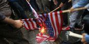Demonstrationer mot att USA lämnar Iranavtalet, 9 maj. Vahid Salemi / TT / NTB Scanpix