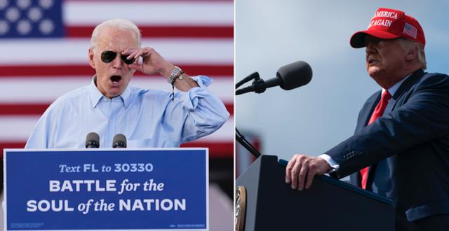 Både Biden och Trump besökte Florida idag.  TT