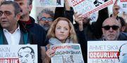 Demonstration mot att journalister hålls fängslade. Lefteris Pitarakis / TT / NTB Scanpix