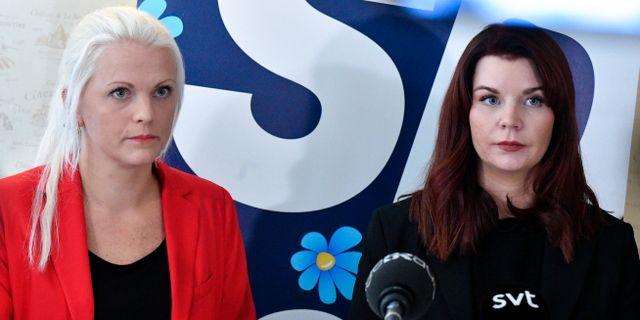 Emilie Pilthammar och Louise Erixon.  Johan Nilsson/TT / TT NYHETSBYRÅN