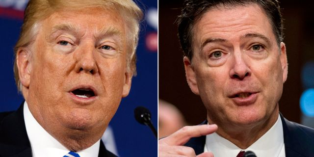 Donald Trump och James Comey. TT / NTB Scanpix
