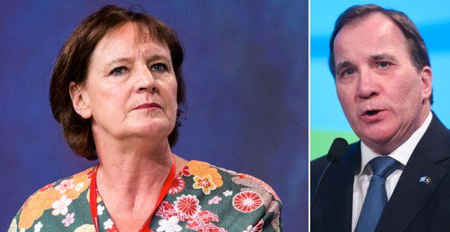 Annelie Nordström och Stefan Löfven. Arkivbilder. TT