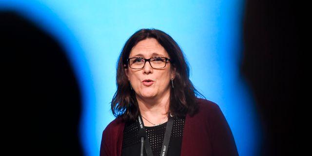 EU-kommissionären Cecilia Malmström. Arkivbild. Pontus Lundahl/TT / TT NYHETSBYRÅN