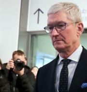 Apples vd Tim Cook i samband med rättegången mot Epic. Markus Schreiber / TT NYHETSBYRÅN