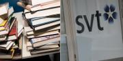 Boktravar / SVT-logo på dörr. TT