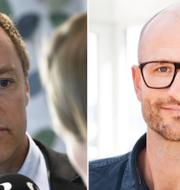 Braconier och Sandstedt.  TT  // Petter Karlberg/KARLBERG media AB