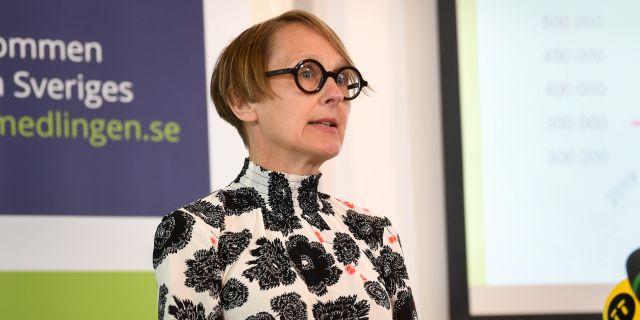 Arkivbild: Arbetsförmedlingens analyschef Annika Sundén.  Fredrik Sandberg/TT / TT NYHETSBYRÅN
