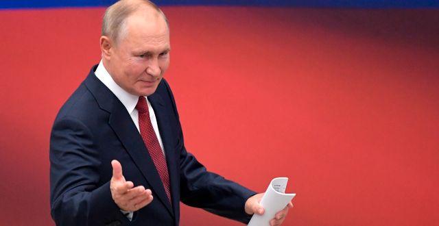 Rysslands president Vladimir Putin.  Sergei Guneyev / TT NYHETSBYRÅN