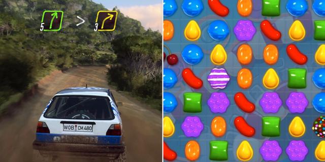 Dirt Rally 2.0/Candy Crush PRESS