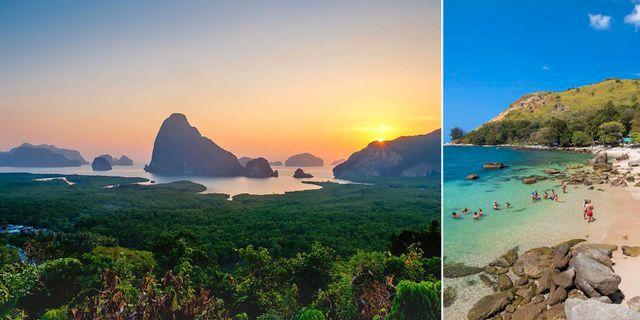 Samet Nangshe Viewpoint och Ao Sane Beach är två smultronställen du inte vill missa på Phuket. Thinkstock / Asia Direct